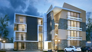 Devtraco Plus Ghana Limited Avant Garde front exterior night view
