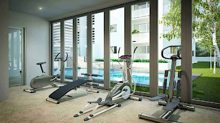 The Niiyo, Dzorwulu | Gym View | Devtraco Plus Apartments For Sale and Rent | Accra, Ghana
