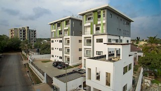The Niiyo, Dzorwulu | Angled front view | Devtraco Plus Apartments For Sale and Rent | Accra, Ghana