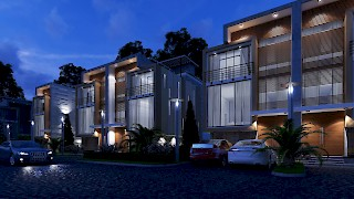 Devtraco Plus Ghana Limited Acasia townhomes night view