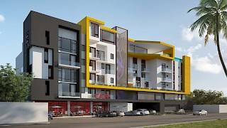 Devtraco Plus Ghana | The Edge front view day | Labone apartment for sale
